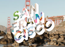 Load image into Gallery viewer, Medium, 252-piece puzzle measures 14 inches by 10 inches and has a glossy finish. It comes in a black box with a 5 x 7 print of the city image of San Francisco on top of the box