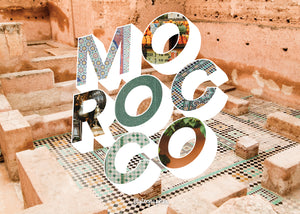 Medium, 252-piece puzzle measures 14 inches by 10 inches and has a glossy finish. It comes in a black box with a 5 x 7 print of the image on top of the box of the city and word Morocco