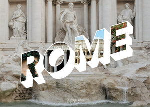 Medium, 252-piece puzzle measures 14 inches by 10 inches and has a glossy finish. It comes in a black box with a 5 x 7 print of Rome on the top of the box