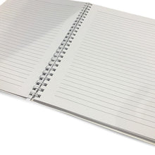 Load image into Gallery viewer, This 6.50x8.75 inch, spiral bound notebook is perfect for jotting thoughts and sketching ideas.