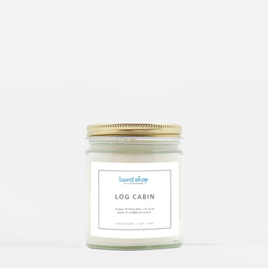 Log Cabin Candle