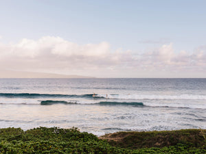 Maui | Surfers at Oneloa Bay Print
