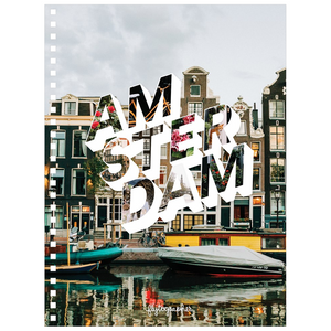 This 6.50x8.75 inch, spiral bound notebook has a pretty picture of Amsterdam on the cover  and is perfect for jotting thoughts and sketching ideas.