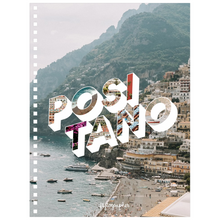 Load image into Gallery viewer, A 6.50x8.75 inch, spiral bound notebook with a picture of Positano on the Cover