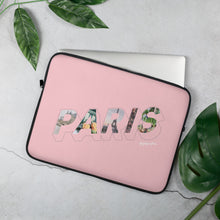 Load image into Gallery viewer, Pink laptop case with a colourful graphic and the word Paris