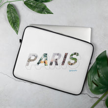 Load image into Gallery viewer, white laptop case with a colourful graphic and the word Paris