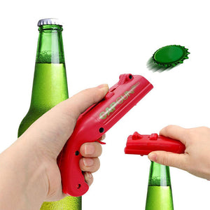 3 Pack Beer Bottle Opener Cap Gun Shooter