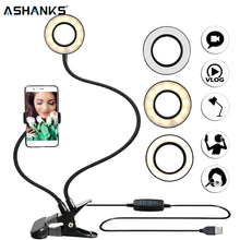 Load image into Gallery viewer, Photo Studio Selfie LED Ring Light with Cell Phone Mobile Holder for Live Stream