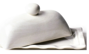 Signature Ruffle Domed Butter Dish