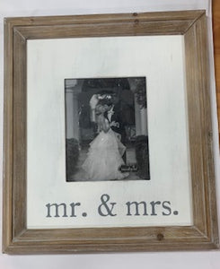 Mr & Mrs XL Picture Frame
