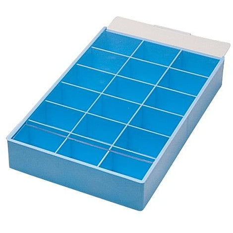 18 compartment tray - sorting tray - organizing tray - tray with cover