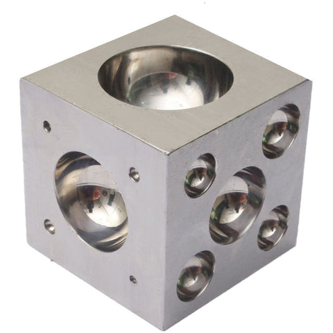 dapping block - 2 inch dapping block - 2x2 dapping block - 2 inch dapping block with 11 punches - steel dapping block