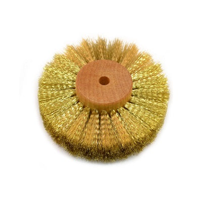 crimped brass wheel brush - brass texturing brush - brass jewelry texturing brush - brass jewellery texturing brush