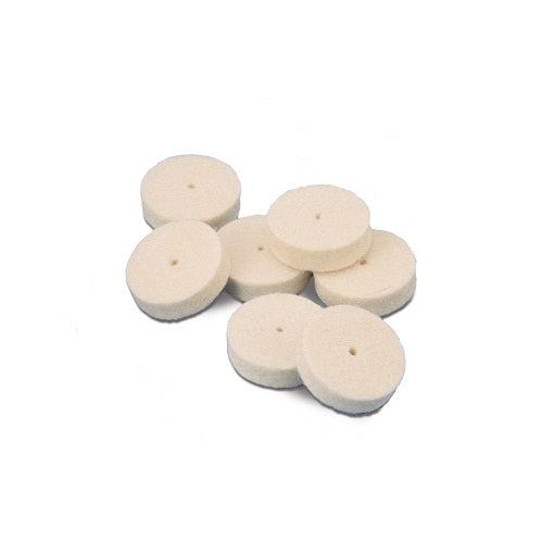 mini felt buffs - square edge felt buffs - jewelry polishing felt buffs - jewellery polishing felt buffs