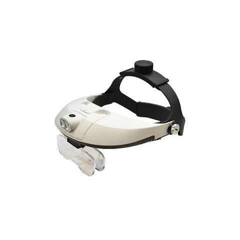 led magnifier - led magnifier with headband - setters magnifier - jewelers magnifier - jewellers magnifier - magnifier for stone setting
