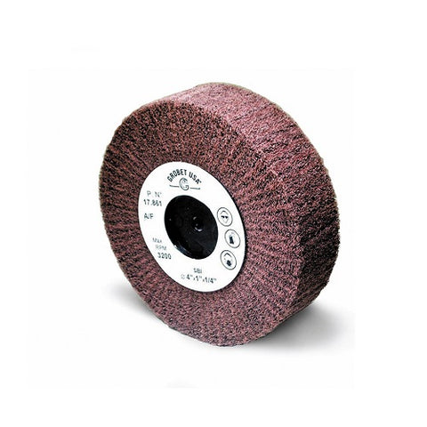 aluminum oxide satin finish flap wheels - flap wheel - aluminum oxide flap wheel - satin finish wheel - satin finish flap wheel - scratch finish wheel - scratch finish flap wheel