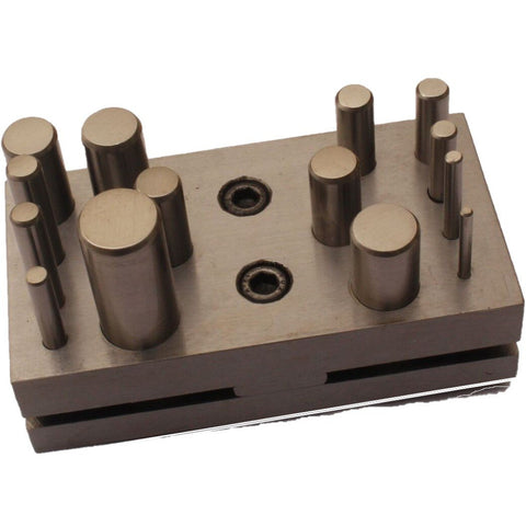 disc cutter - disc cutting punch pins - 14 piece disc cutting punch pins
