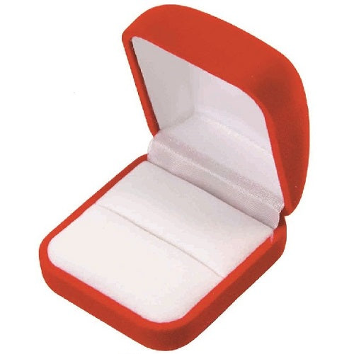flocked large ring box - velour large ring box - flocked jewelry box - velour jewerly box
