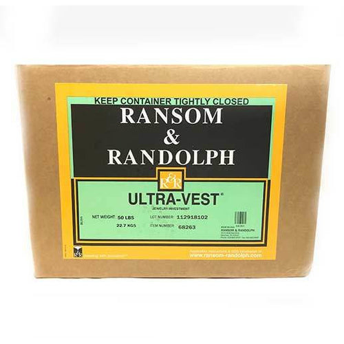 ransom and randolph ultravest - r&r ultravest - ultra vest investment compound - casting compound - investment compound - casting investment - jewelry investment - jewellery investment - plaster of paris