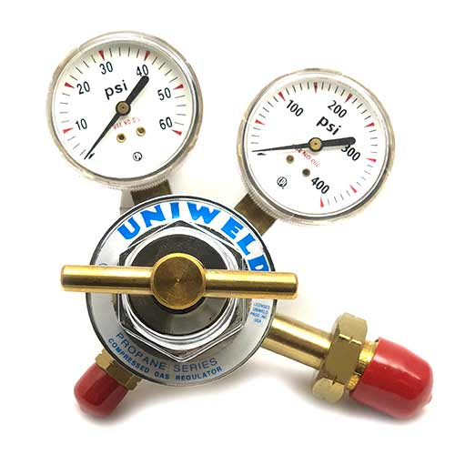 regulator - gas - gas regulator - 1 stage gas regulator - gas tank regulator - uniweld regulator