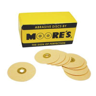 moores cuttle discs - cuttle sanding discs - moores cuttle discs with brass center