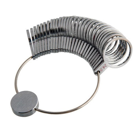 ring sizer - finger sizer - metal ring sizer - metal finger sizer - metal band finger sizer - metal band ring sizer