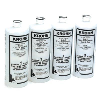 krohn gold plating solution - krohn gold electroplating solution - gold plating solution - gold electroplating solution