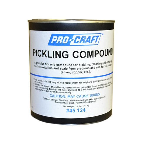 pickling compound - procraft - pro craft - pro craft pickling compound - procraft pickling compount - pickling powder - pickling compound powder - jewelry pickling compound - jewellery pickling compound