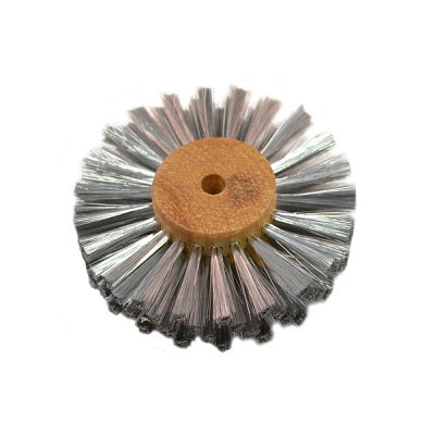 steel wire wheel brush - steel texturing brush - steel jewelry texturing brush - steel jewellery texturing brush