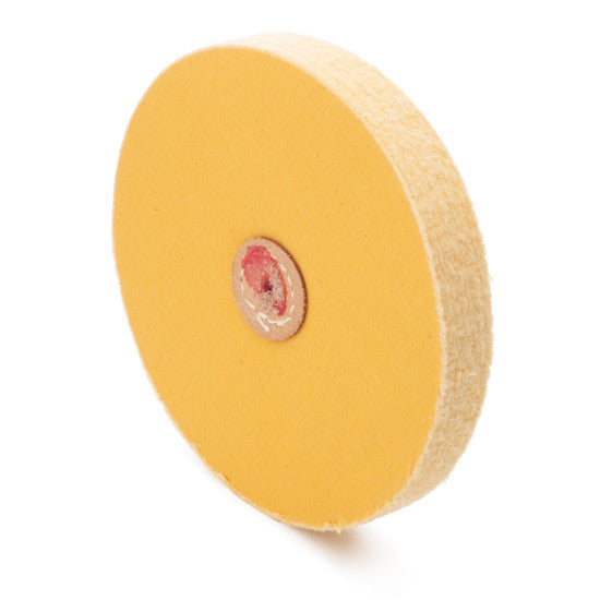 yellow loose muslin buffs - jewelry polishing buffs - jewellery polishing buffs