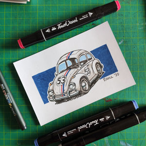 "Herbie 6"" x 4"" Original Pen and Marker Art - SketchedUp20"
