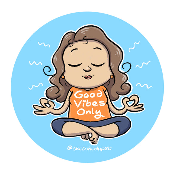 Good Vibes Only Badge - SketchedUp20