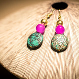 Round Flat Bead Earrings - SketchedUp20