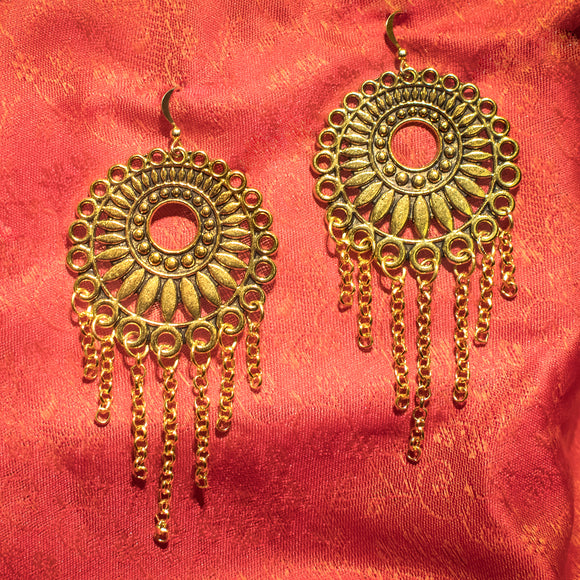 Gold dream catcher earrings - SketchedUp20
