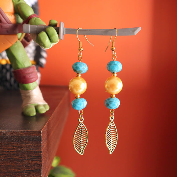 Jasmine Pearl Leaf Charm Earrings - SketchedUp20