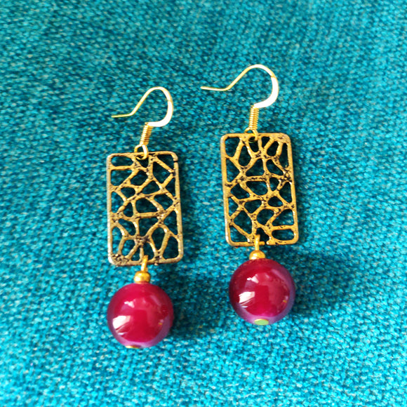 Jali Bead Earrings - SketchedUp20