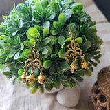 Crown Dangle Ghungroo Earrings - SketchedUp20