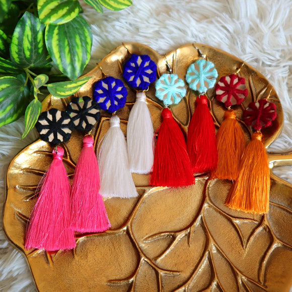 Tassel Mirror Earrings - SketchedUp20