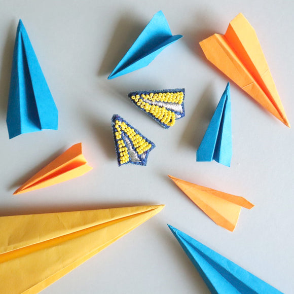 Paper Plane Earrings - SketchedUp20
