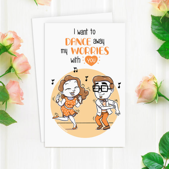 Dance Away My Worries Greeting Card - SketchedUp20