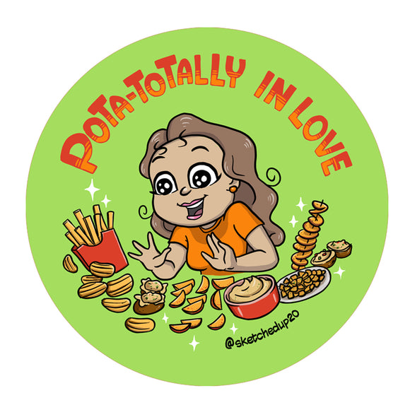 Pota-totally in Love Badge - SketchedUp20