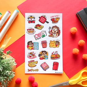 Sticker Sheet - Cooking Time - SketchedUp20