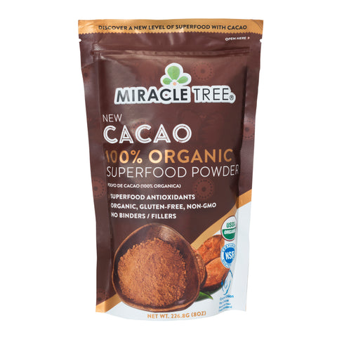 Miracle Tree - 100% Organic Cacao Superfood Powder (8 Oz.)