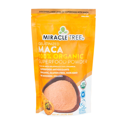 Miracle Tree - 100% Organic Maca Superfood Powder (8 Oz.)