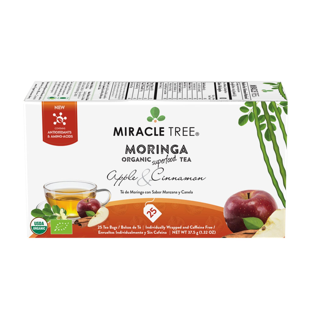 Organic Moringa Tea, Apple & Cinnamon - Miracle Tree