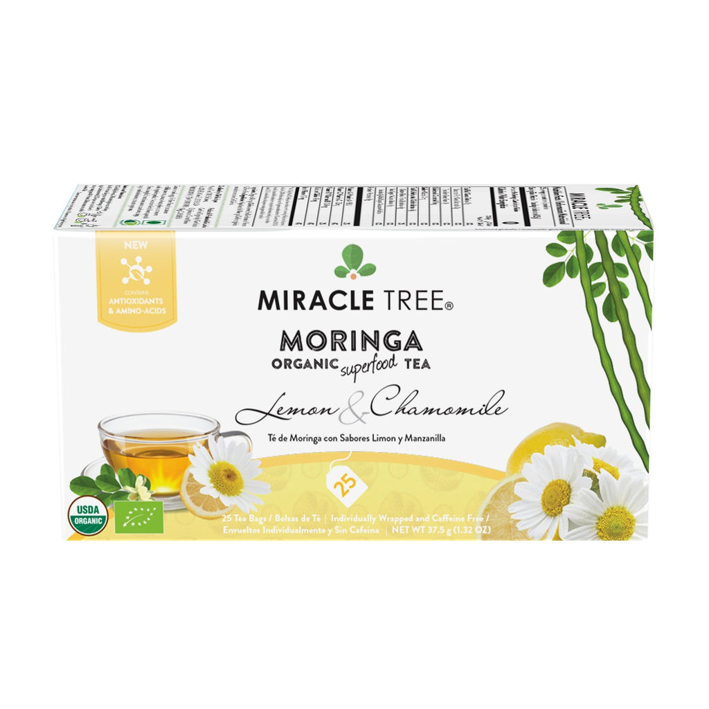 Organic Moringa Tea, Lemon & Chamomile - Miracle Tree