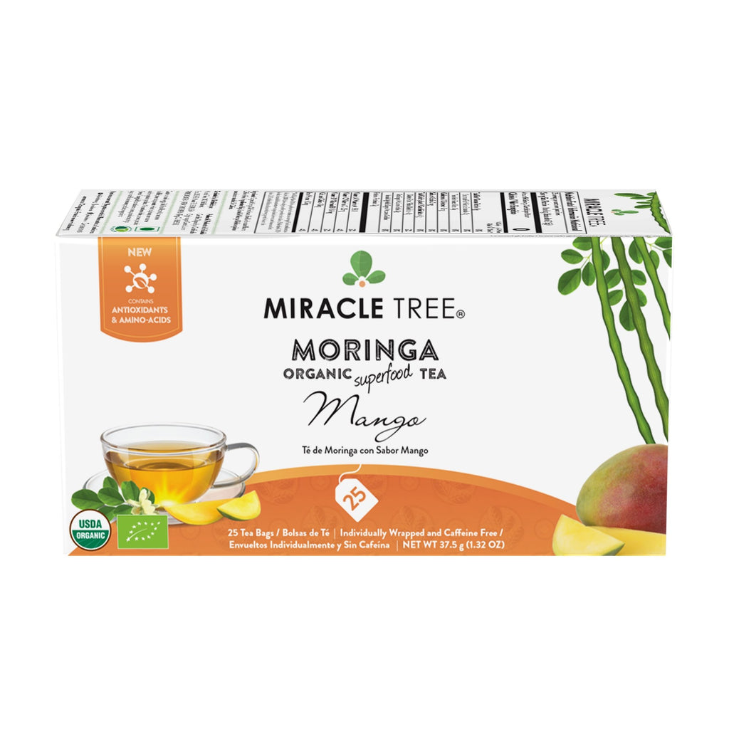 Organic Moringa Tea, Mango - Miracle Tree