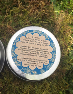 All Purpose Salve ~ for Cuts, Burns, & Stings, Body Butter + Lip Balm Gift for Gardeners and Outdoor Enthusiasts