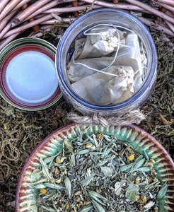 Rest Easy SLEEPY TIME Organic Herbal Tea Bags for Stress Relief, Relaxation + Anxiety with Lavender, Chamomile, Passion Flower & Oat Tops