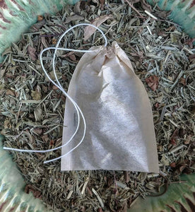 Tulsi Lemongrass Organic Tea Bags with Ayurvedic Herbs of India for Digestion, Adaptogenic and Yoga Inspired